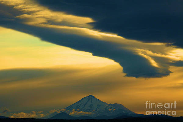 Mt. Adams Photograph - Storm Over Shasta by Adam Jewell