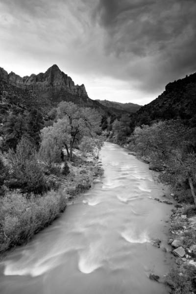 Storm Over The Watchman Art Print