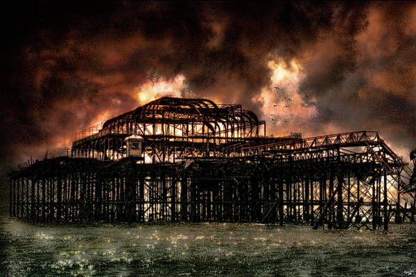 Photograph - Storm Over The West Pier by Chris Lord