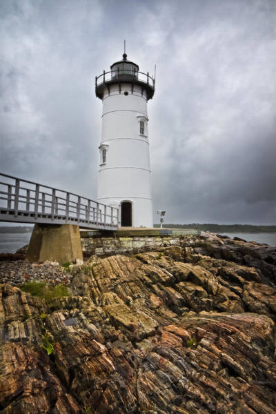 Photograph - Stormy Lighthouse by Robert Clifford