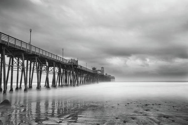 Black Cloud Photograph - Stormy Oceanside by Larry Marshall
