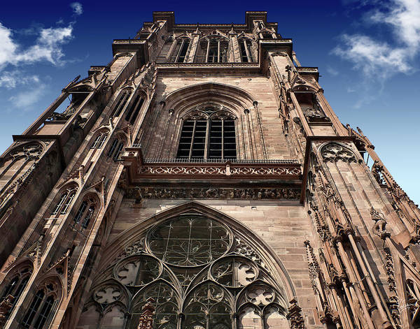 Photograph - Strasbourg Cathedral Spire by Endre Balogh
