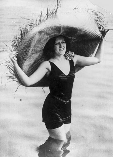 1923 Photograph - Straw Hat by General Photographic Agency