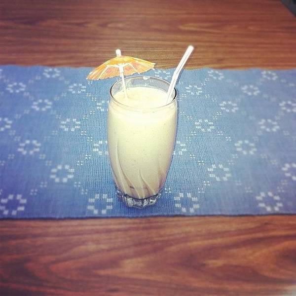 Workout Wall Art - Photograph - #strawberry #mango #soymilk #smoothie by Marie Constant