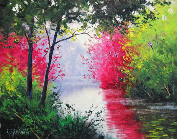 Reflections Painting - Stream Bank by Graham Gercken