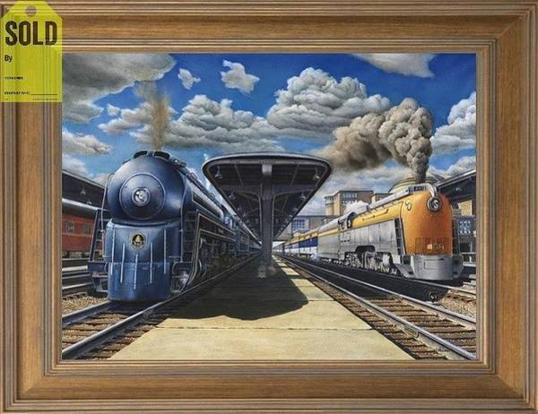 Freight Trains Painting - Streamlined Steam Locomotives by Chris Nelson