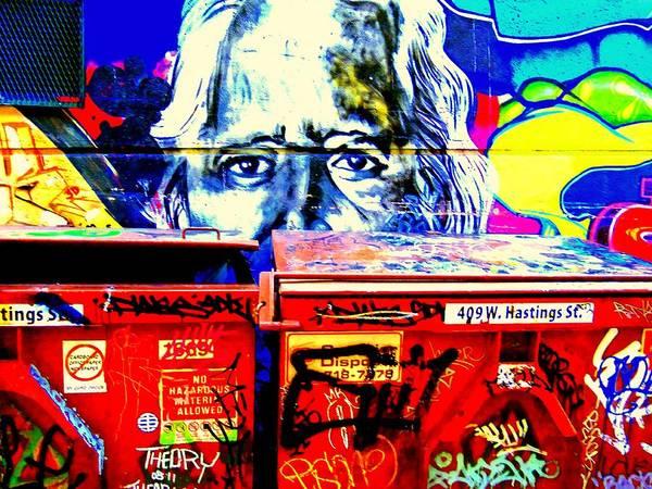 Vancouver Digital Art - Street Art 409 W. Hastings St. One by Randall Weidner