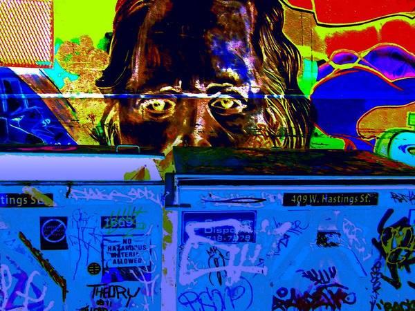 Vancouver Digital Art - Street Art 409 W. Hastings St. Two by Randall Weidner