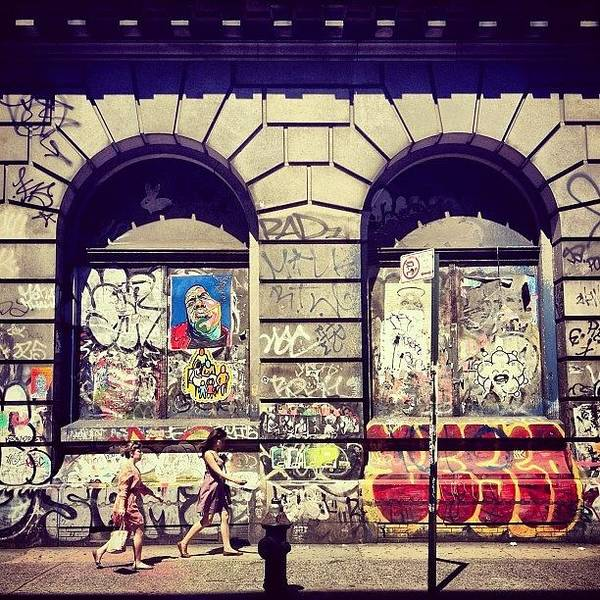 Street Art On The Bowery - New York City Art Print
