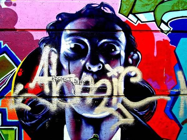 Vancouver Digital Art - Street Art Respect Please 1 by Randall Weidner
