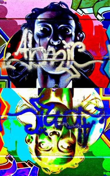 Vancouver Digital Art - Street Art Respect Please Times Two by Randall Weidner