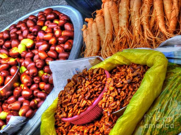 Wall Art - Photograph - Street Food Snacks In Seoul by Michael Garyet