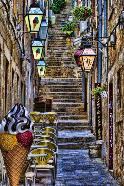 Dubrovnik Photograph - Street Lane In Dubrovnik Croatia by David Smith