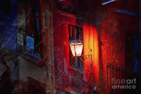 Photograph - Street Light On Calle Quebrada by John  Kolenberg