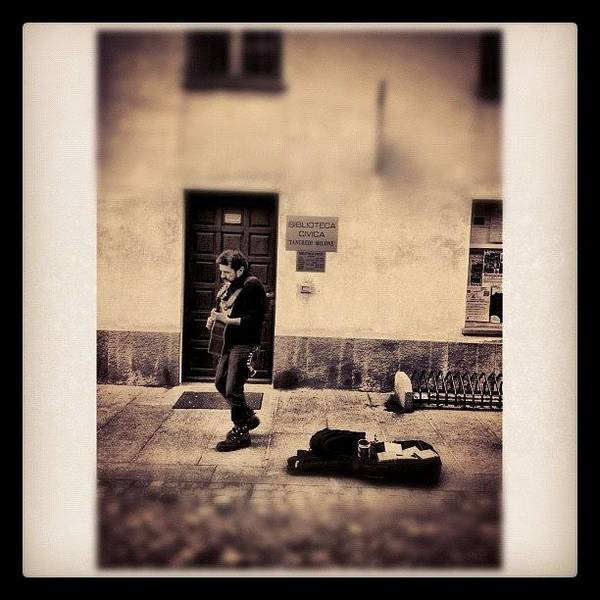 Musicians Wall Art - Photograph - Street Musician by Paul Cutright