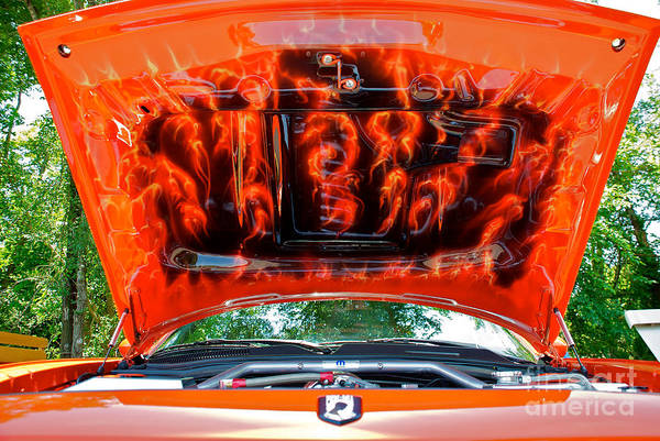 Photograph - Street Rod Hood 3 by Mark Dodd