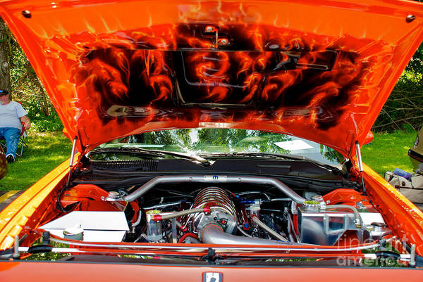 Photograph - Street Rod Hood by Mark Dodd