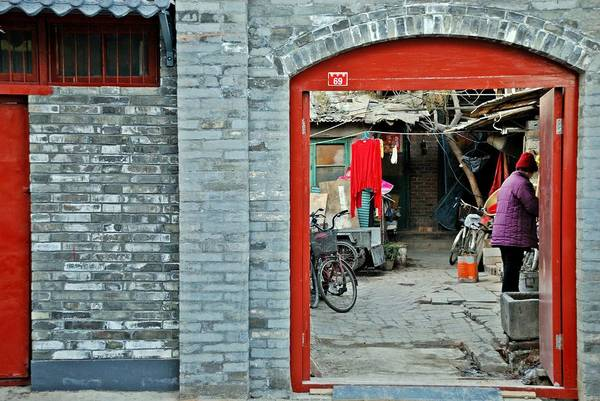 Wall Art - Photograph - Street Scene 6 - Behind The Red Door by Dean Harte