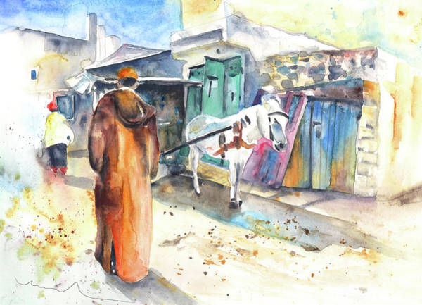 Painting - Street Scene In Morocco 01 by Miki De Goodaboom