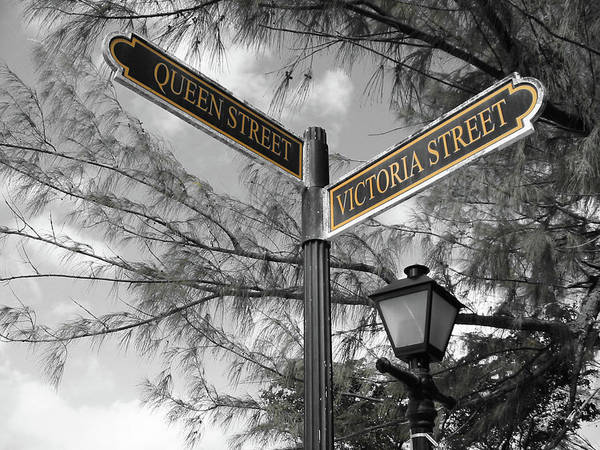 Street Signs On Grand Turk Art Print