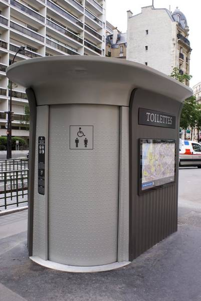 Outside Toilet Photograph - Street Toilet In Paris by Mark Williamson