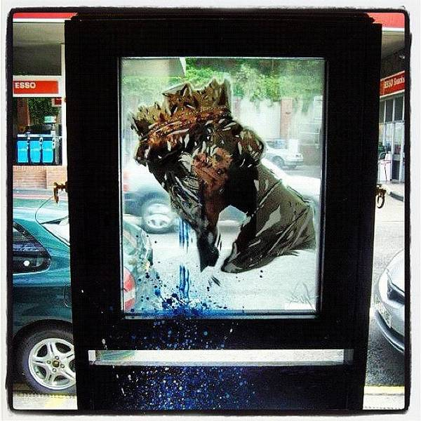 Wall Art - Photograph - #streetarteverywhere #iphonesia #upfest by Nigel Brown