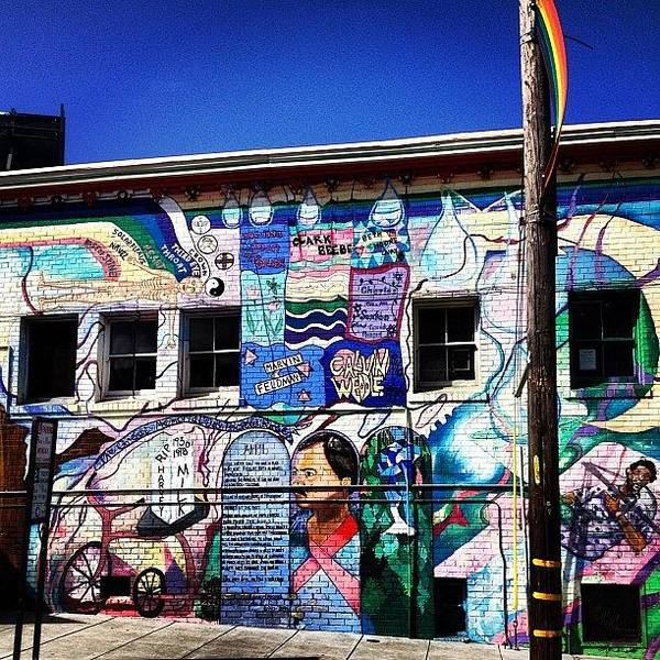 Handmade Wall Art - Photograph - #streetphotography #buildinggraffiti by Emily Mulle