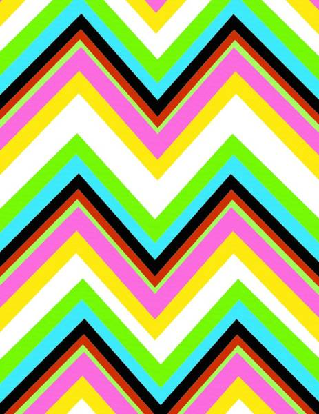Diagonal Digital Art - Stripe by Louisa Knight