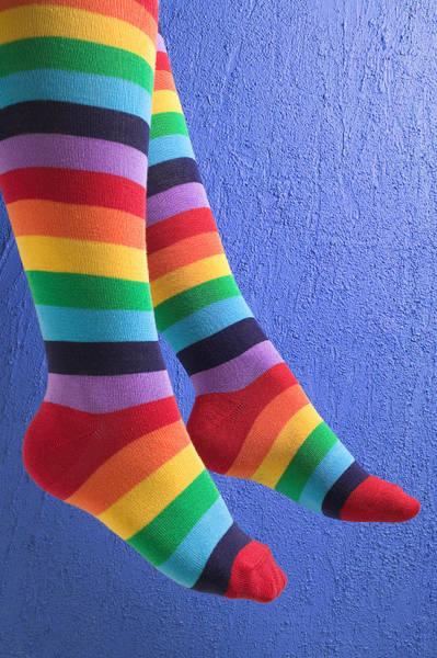 Long Legs Wall Art - Photograph - Striped Socks by Garry Gay
