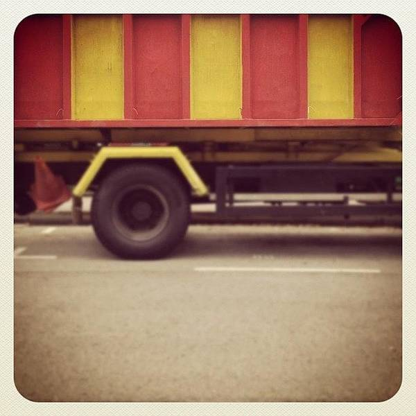 Vehicle Photograph - Stripes On A Truck. #truck #lorry by Gabriel Kang
