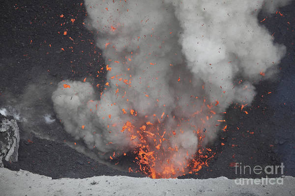 Yasur Photograph - Strombolian Eruption From Vent by Richard Roscoe