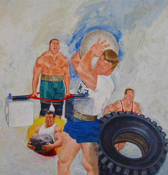 Painting - Strong Man by Cliff Spohn