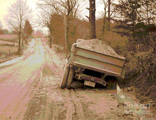 Dump Truck Photograph - Stuck Truck by Padre Art