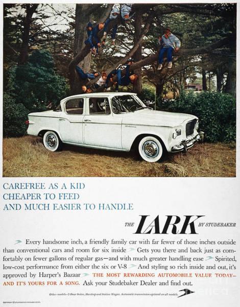 Photograph - Studebaker Ad, 1959 by Granger