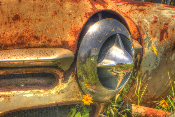 Wrecking Yard Photograph - Studebaker Reflections by Beth Gates-Sully
