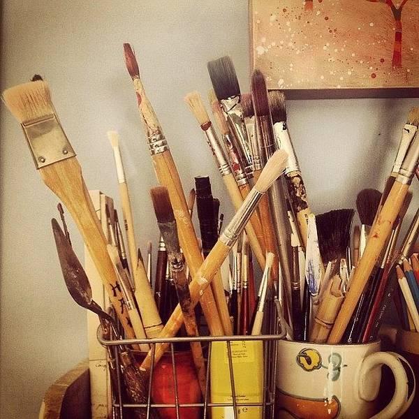 Brush Wall Art - Photograph - Studio Corner by Nic Squirrell