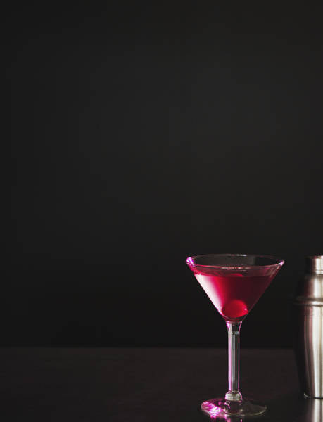 Cocktail Shaker Photograph - Studio Shot Of Cocktail In Martini Glass by Jamie Grill
