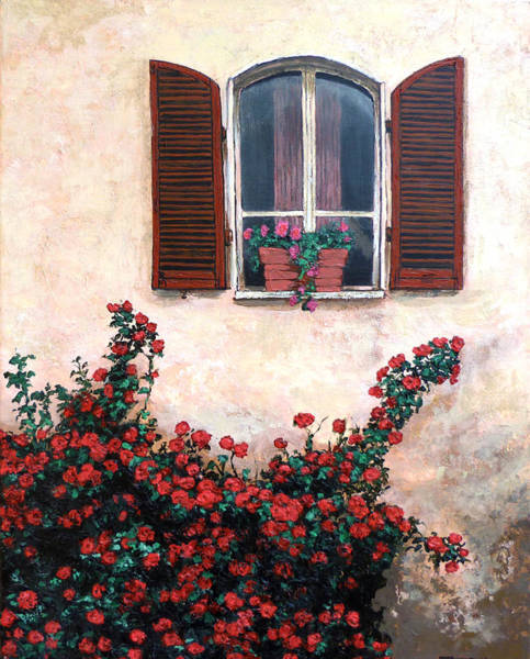 Painting - Studio Window by Tom Roderick