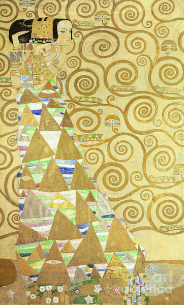 Triangles Painting - Study For Expectation by Gustav Klimt