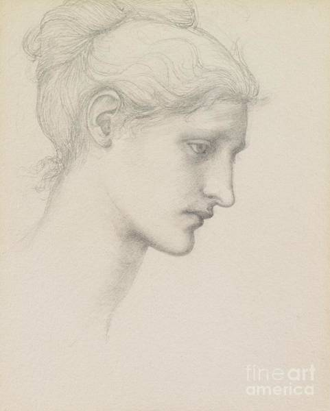 Wall Art - Drawing - Study For Laus Veneria by Sir Edward Burne Jones