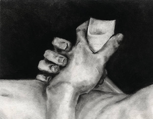 Drawing - Study Of Hands by David Kleinsasser
