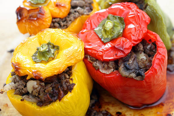 Photograph - Stuffed Peppers From The Oven by Paul Cowan