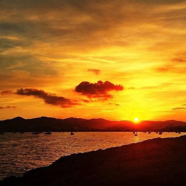 Wall Art - Photograph - Stunning Sunset : Eivissa #instagood by Neil Andrews