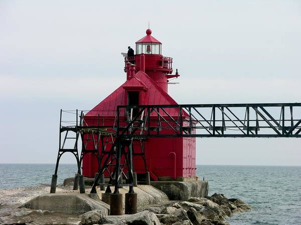 Photograph - Sturgeon Bay Canal North Pierhead Light by Keith Stokes