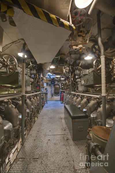 Uss Bowfin Photograph - Submarine Engine Room by Rob Tilley