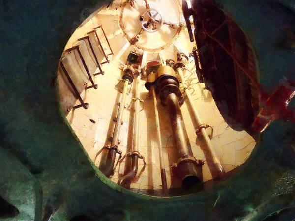 Photograph - Submarine Escape Hatch by Susan Savad