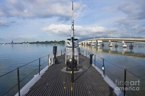 Uss Bowfin Photograph - Submarine Surface Deck by Rob Tilley