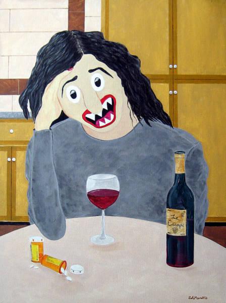 Destructive Painting - Suburban Divorcee by Sal Marino