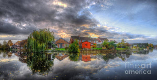 Photograph - Suburban Sunrise Panorama by Yhun Suarez