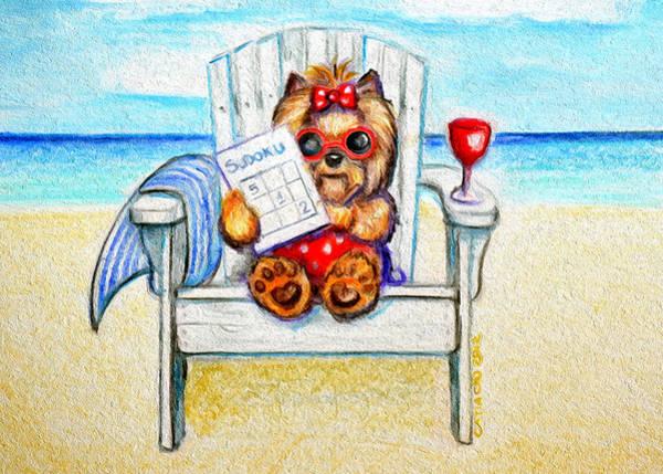 Mixed Media - Sudoku At The Beach by Catia Lee